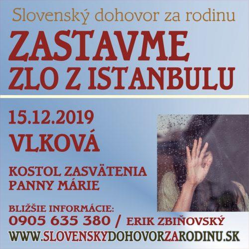 pozývame Vás na stretnutie VLKOVÁ 15.12.2019