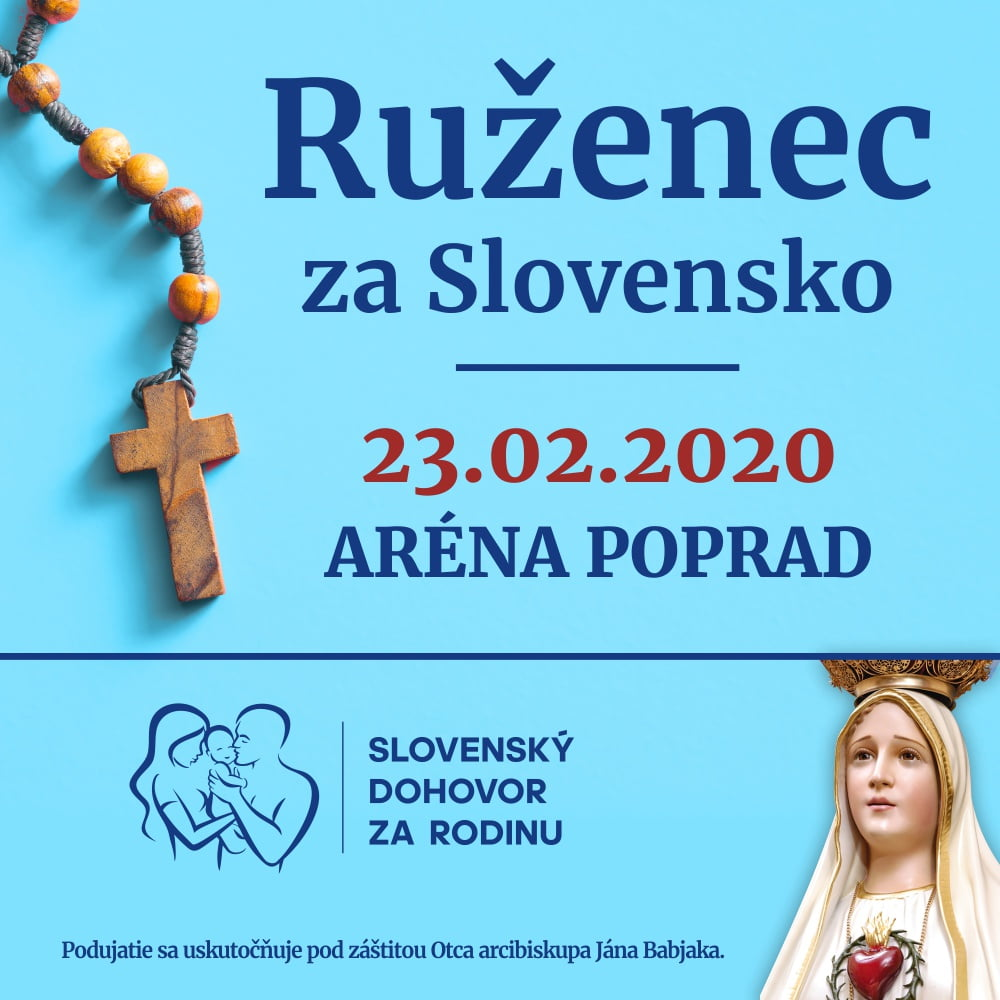 Ruženec za Slovensko – 23. február 2020 Poprad – registrácia