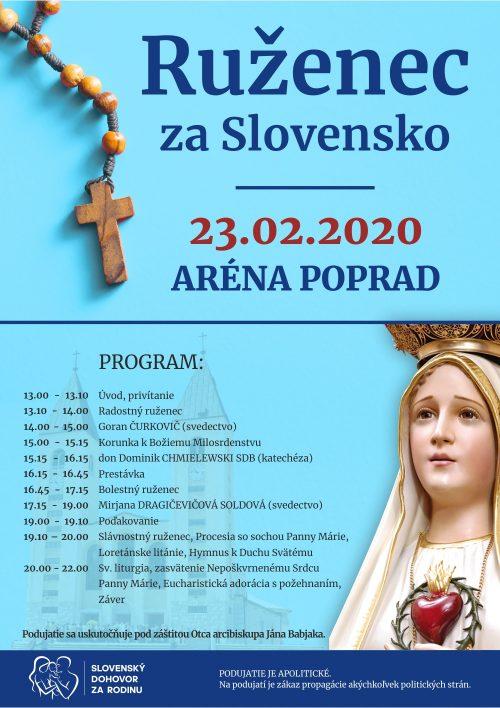 Ruženec za Slovensko - 23. február 2020 Poprad - registrácia 109