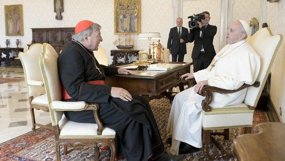 Kardinál Pell v Ríme s Pápežom Františkom 1