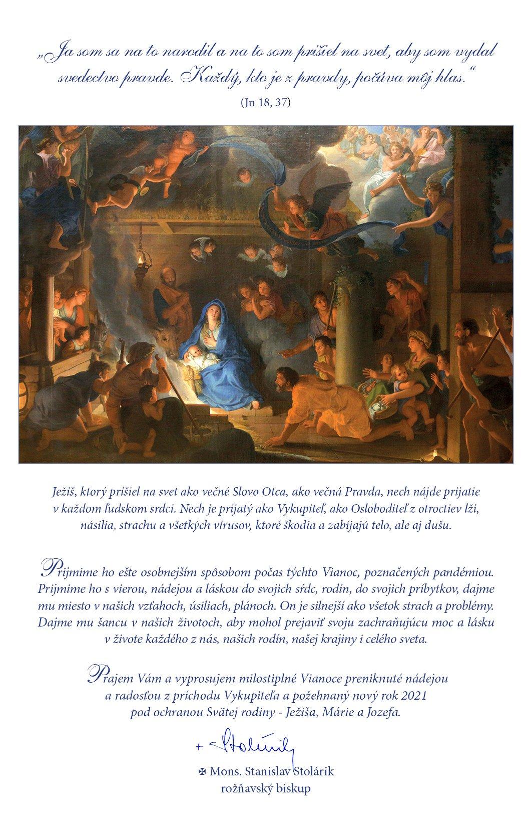 Mons. Stanislav Stolárik-vianoce-pozehnanie