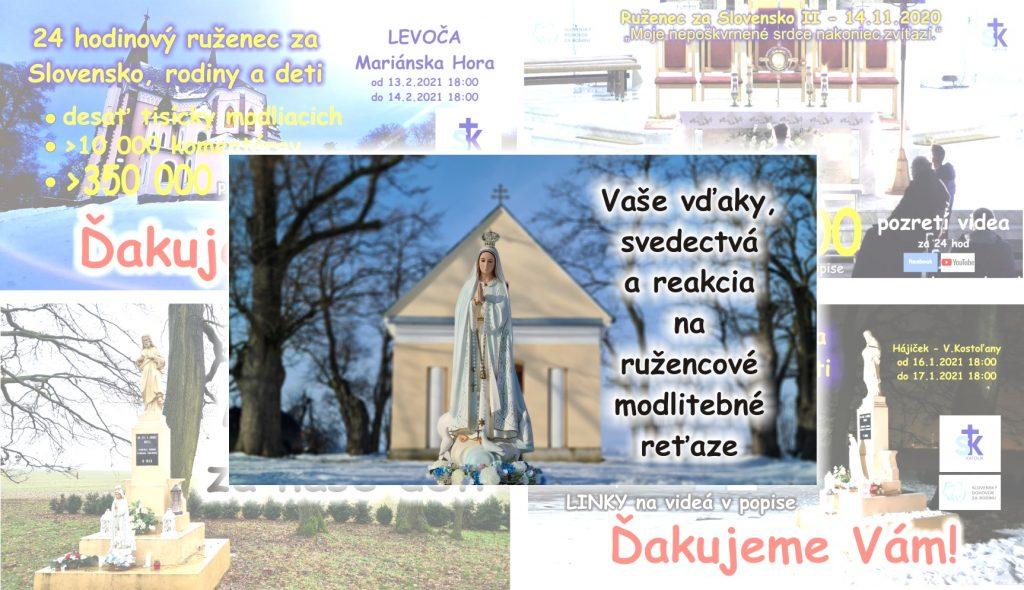 Modlitby ruženca: Vaše správy, svedectvá k ružencovým reťaziam 4