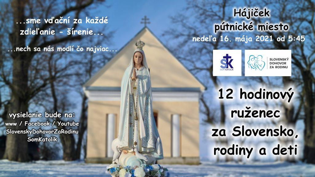 12 hodinový ruženec za Slovensko, rodiny a deti – spojený s pôstom 5