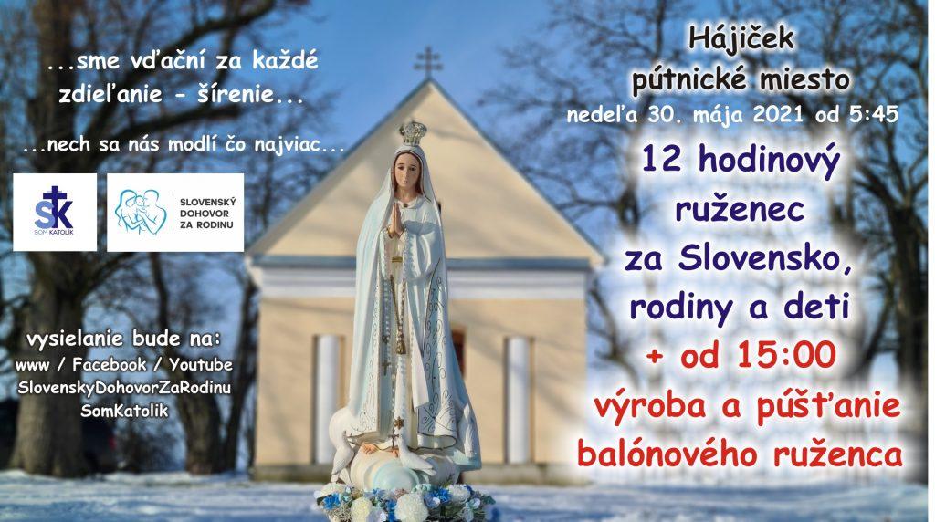 12 hodinový ruženec za Slovensko, rodiny a deti – spojený s púšťaním balónov 3