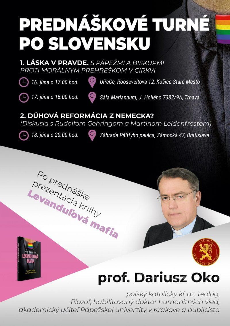 Dariusz Oko - Prednáškové turné po Slovensku