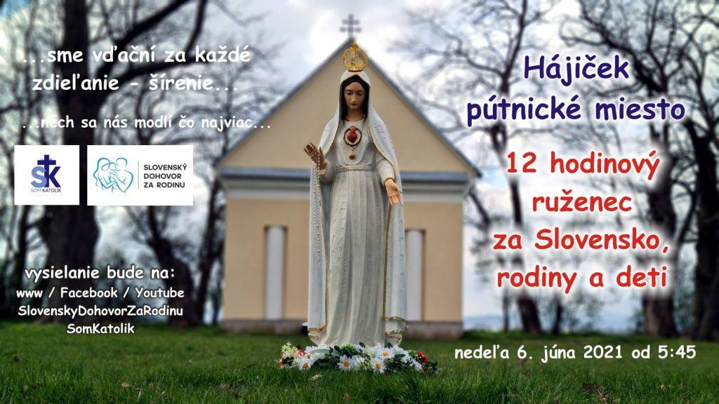 12 hodinový ruženec za Slovensko, rodiny a deti – spojený s pôstom 2