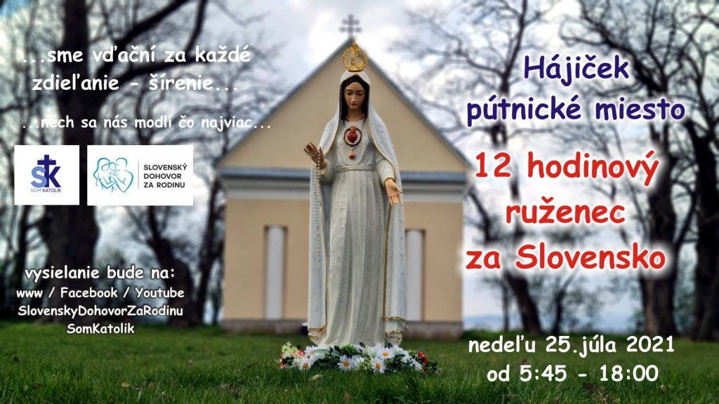 12 hodinový ruženec za Slovensko, rodiny a deti 2